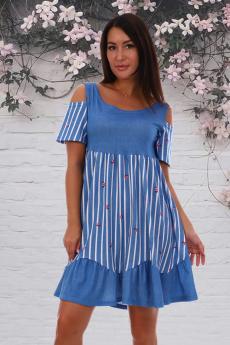 Новинка: летнее платье с открытыми плечами Натали
