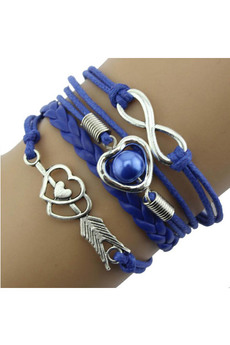 Синий браслет со знаком бесконечность Kokette