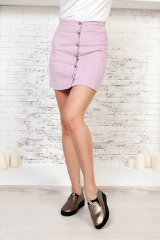 Розовая короткая юбка Angela Ricci